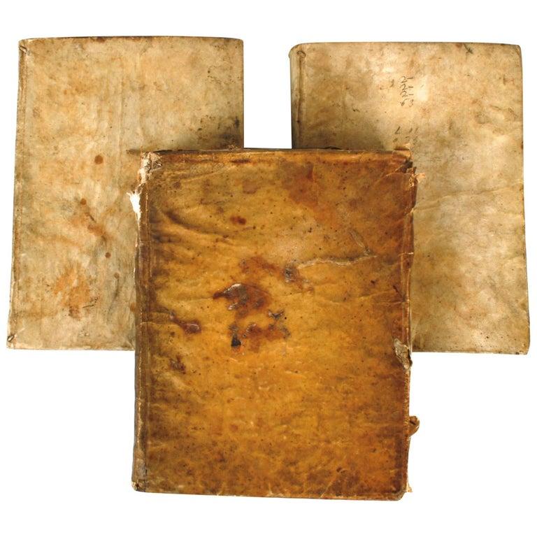 Set of Three 18th Century Vellum Sunday Sermon Books