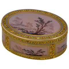 18th Century Enamel and Gold Box by Le Bastier, Paris, 1778