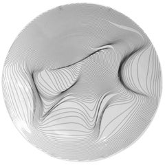 P.li Platter, White Porcelain, Organic Drawing, Brazilian Design