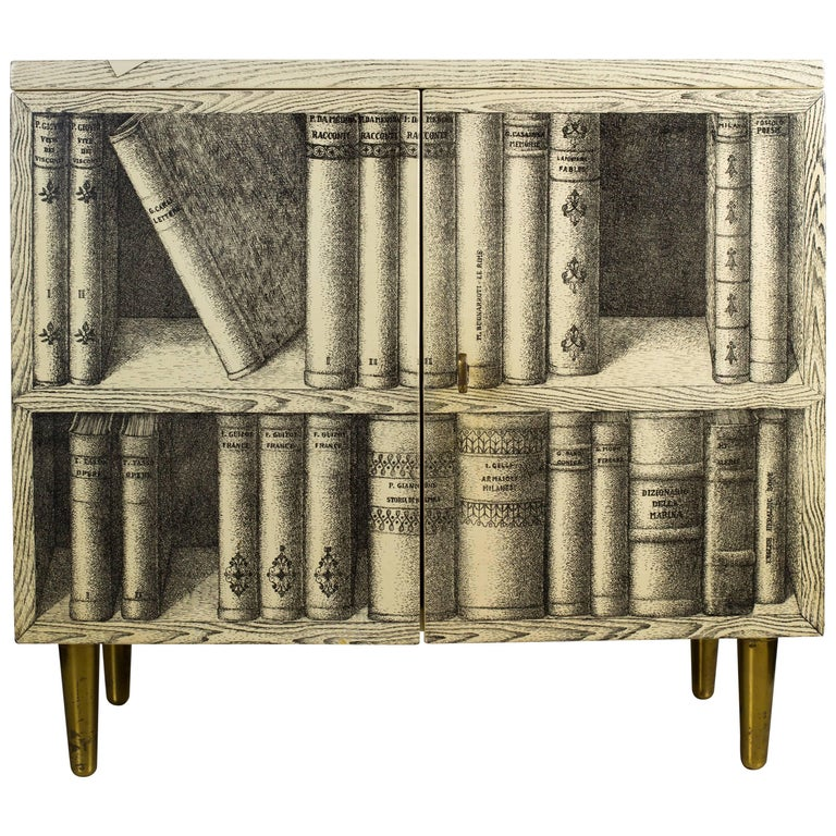 Midcentury Piero Fornasetti Trompe L Oeil Cabinet Vintage 1960s For