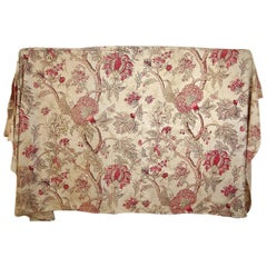 Late 19th Century French Faded Pretty Indienne Cotton Panel