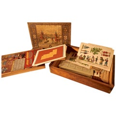 Real Stone Block Junior Building Set in Original Pictorial Box By Anker