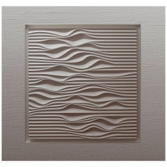 White Panel, Organic Drawing, Brazilian Sand Dune Design