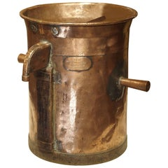 Antique Copper 50 Liter Wine Vessel from Carcassonne France, circa 1850