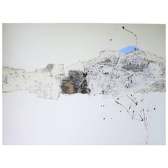 """Pascal Bost """"Silence Blanc"""" Large Abstract Painting"""