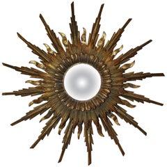 19th Century French Sunburst Mirror