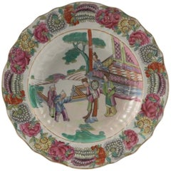 Late 19th Century Meissen Porcelain Soup Bowl with Mandarin Pattern