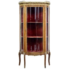 1920s French Walnut and Ormolu Vitrine Display Cabinet