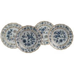 19th Century Meissen Porcelain Blue and White Porcelain Plates