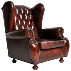 Tufted Wing Back Club Chair