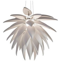 Large Aloe Blossom Suspension Lamp in Matte White Bone, China