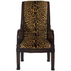 20th Century Empire Style Leopard Velvet Bergere