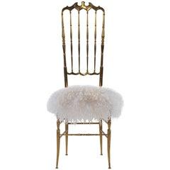 Italian Brass Chiavari Chair