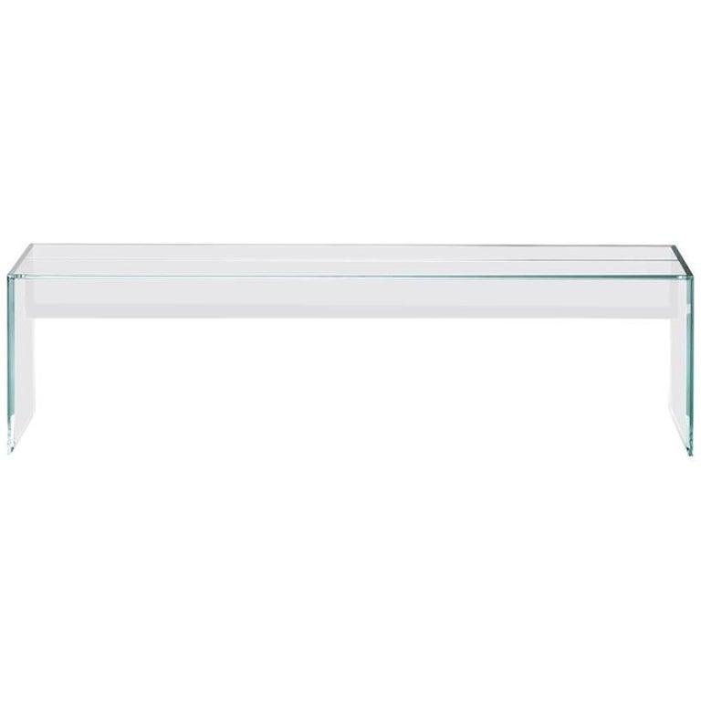 Glas Italia glass bench, new