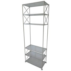 Russell Woodard Iron and Glass Etagere or Bookcase
