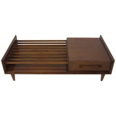 Walnut Midcentury Coffee Table by Sherman/Bertram, California