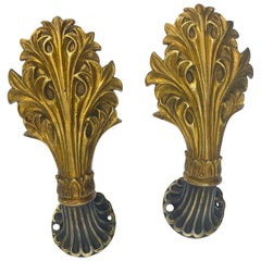 Cast Brass Curtain Tiebacks