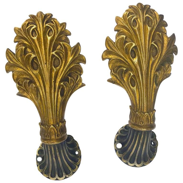 Cast Brass Curtain Tiebacks For Sale