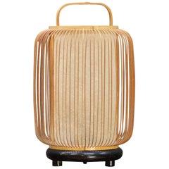 Vintage Midcentury Japanese Hamada Lantern Bamboo Paper Lamp Bohemian Rustic