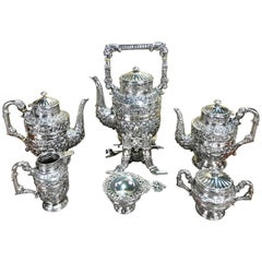 Massive Cellini Sterling Tea and Coffee Service