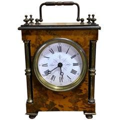 Antique English Tortoiseshell Bracket Clock