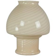 Vetri Murano Ivory Glass Table Lamp