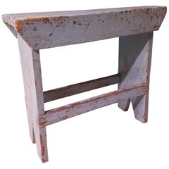 20th Century French Blue Bench made of Painted Wood