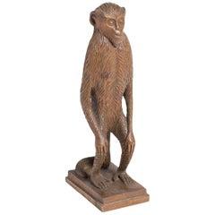 Monkey Wood Sculpture