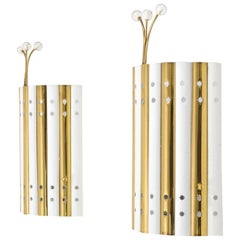 Emil Stejnar Brass and Glass Sconces, 1950s