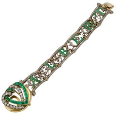 19th Century of Saxony Historical and Royal Emeralds and Diamonds Bracelet 1853