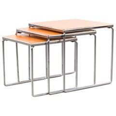 60s Chrome Cube Set Nesting Sidetables