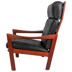 Illum Wikkelsø Midcentury High Back Teak Lounge Chair for Niels Eilersen