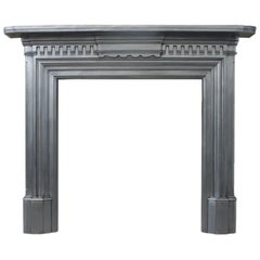 Antique Cast Iron Victorian Fire Surround