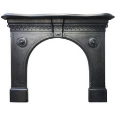 19th Century Victorian Gothic Cast Iron Fire Surround