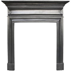 Small Late Victorian Cast Iron Fireplace Surround