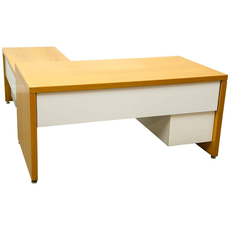 Bill Stephens for Knoll, Desk with Return and Drawer Blocks