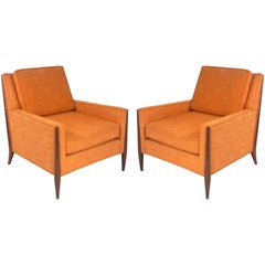 Pair of Clean Lined Midcentury Lounge Chairs