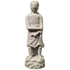 17th-18th Century Chinese Blanc-de-chine Dehua Porcelain Figure of Adam
