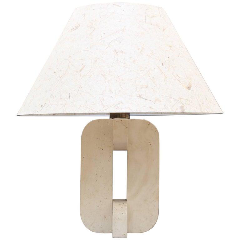 Italian Travertine Lamp, circa 1960s