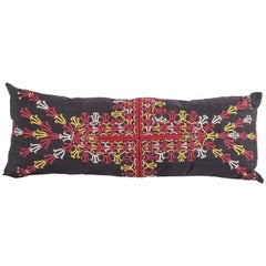 Pillow Case Fashioned from a Early 20th Century Turkmen Emroidered Silk Coat