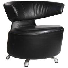 2000s Vintage Leather Cassina 'Biki' Armchair by Toshiyuki Kita