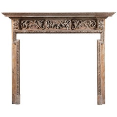 Antique Pine Georgian style Fireplace Surround
