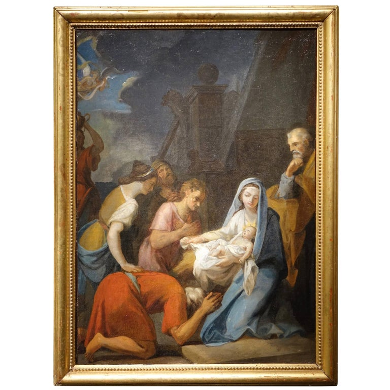 Adoration of the Shepherds,Oil on Canvas  France  Early 18th Century