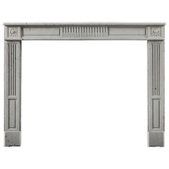 Antique 18th Century Louis XVI Fireplace Surround in Stone
