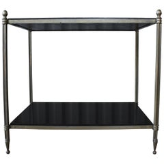 Solid Brass Two-Tiered Side Table