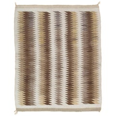 Vintage Navajo Carpet, Folk Rug, Handmade Wool, Beige, Caramel, Tan