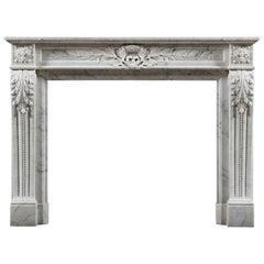 Antique 19th Century Louis XVI Fireplace Mantel