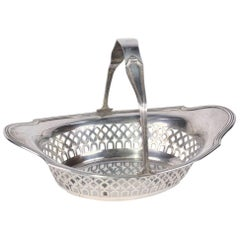 Art Deco Sterling Filigree Candy Basket