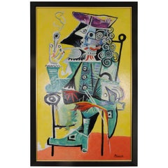 """Original Reproduction of Picasso's """"Mousquetaire a la Pipe"""" Painting"""