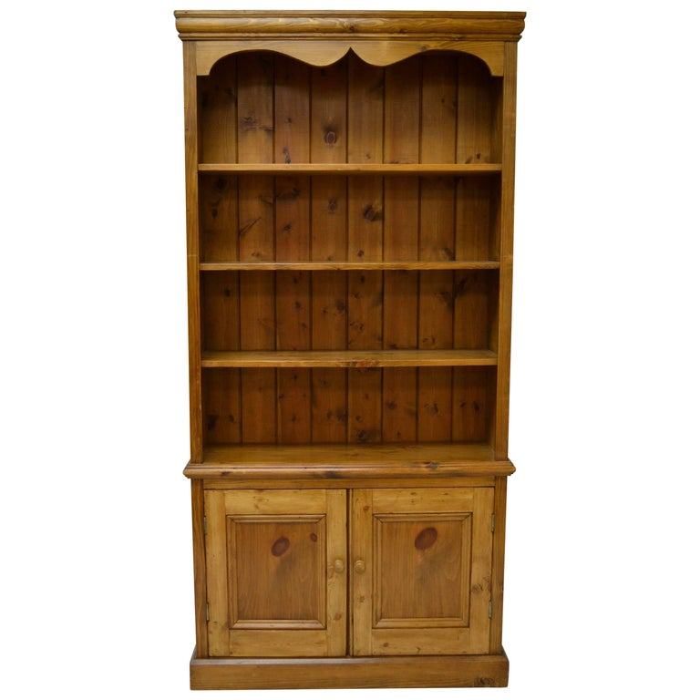 Vintage Pine Bookcase With Two Doors For Sale At 1stdibs